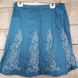 Ann Taylor Embroidered Skirt
